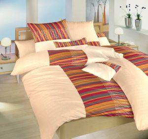 Moderné flanelové posteľné obliečky Čiarky medové, Dadka