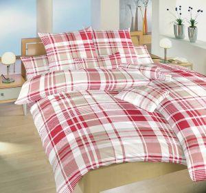 S praktickým zipsovým uzáverom krepová posteľná bielizeň Casandra červená, Dadka