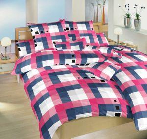 V staroružovej odtieni krásne kvalitné krepové posteľné obliečky Chess staroružový, Dadka