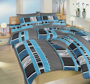 Moderné krepové posteľné obliečky Rodeo modrej, Dadka