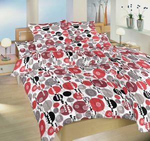 Moderné kvalitné krepové posteľné obliečky Šampión červený, Dadka