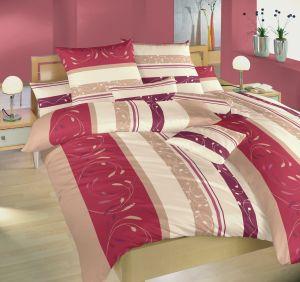Českej výroby kvalitné krepové posteľné obliečky Sliezsko vínové, Dadka