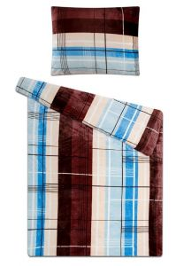 Zaujímavý motív na mikroflanelových posteľných obliečkach Mestské káro, Svitap