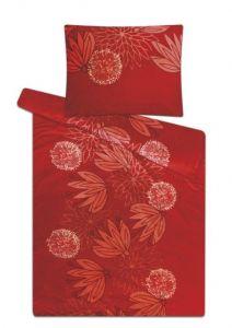 S motívom kvetín mikroflanelové posteľné obliečky Veľké kvety škorica, Svitap