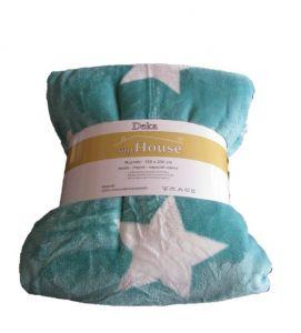 Mikroflanelová deka Stars mint