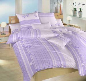 Bavlnené obliečky svetlo fialkovej farby Kocky fialové, Dadka