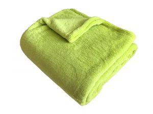 V zelenom jednofarebnom odtieni kvalitné Super soft deka Dadka pistácie,
