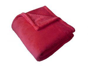 V teplom odtieni Super soft deka Dadka svetlo červená,