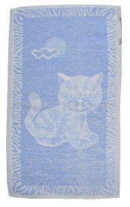 Detský uterák Mačiatko svetlo modré