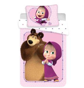 Disney obliečky do postieľky Máša a Medveď baby