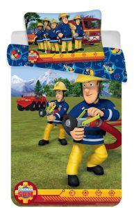 Disney obliečky do postieľky Požiarnik Sam blue baby