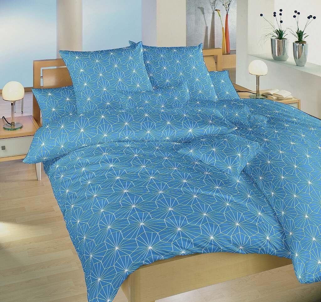 Kvalitná krepová posteľná bielizeň Krystal modrý, Dadka