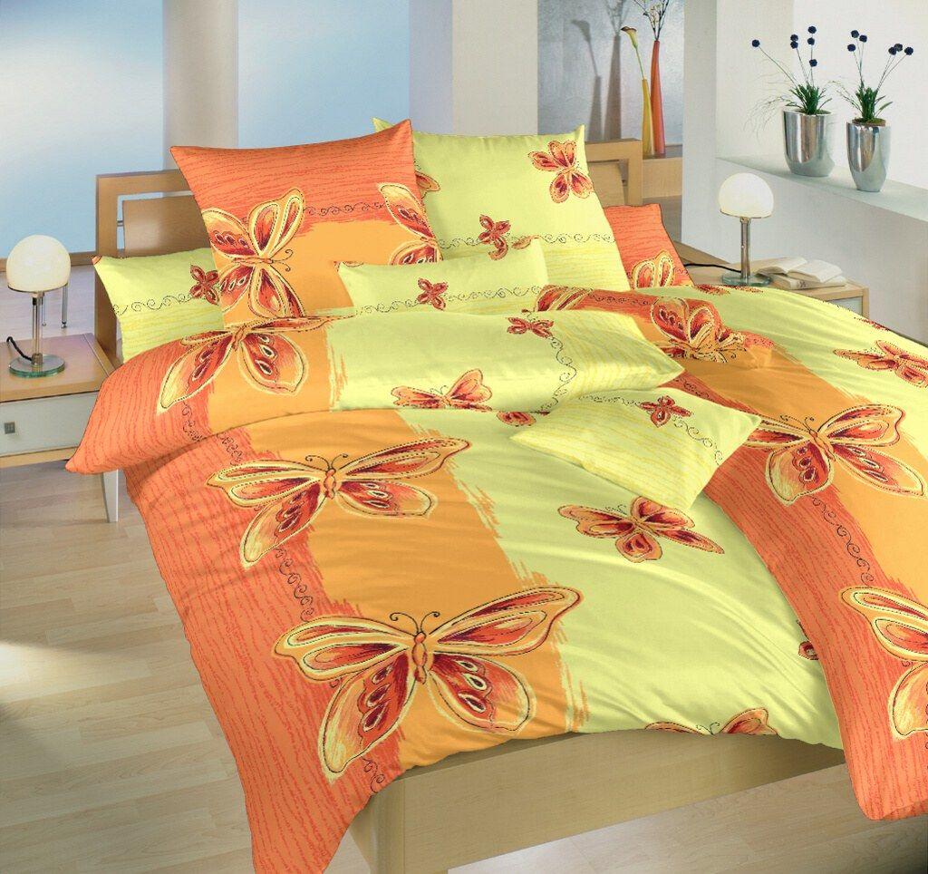 Motív motýlikov na kvalitnom krepovom posteľných obliečkach Motýľ žltý, Dadka
