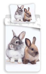 Obliečky fototlač Bunny friends