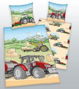 Bavlnené obliečky do postieľky Traktor