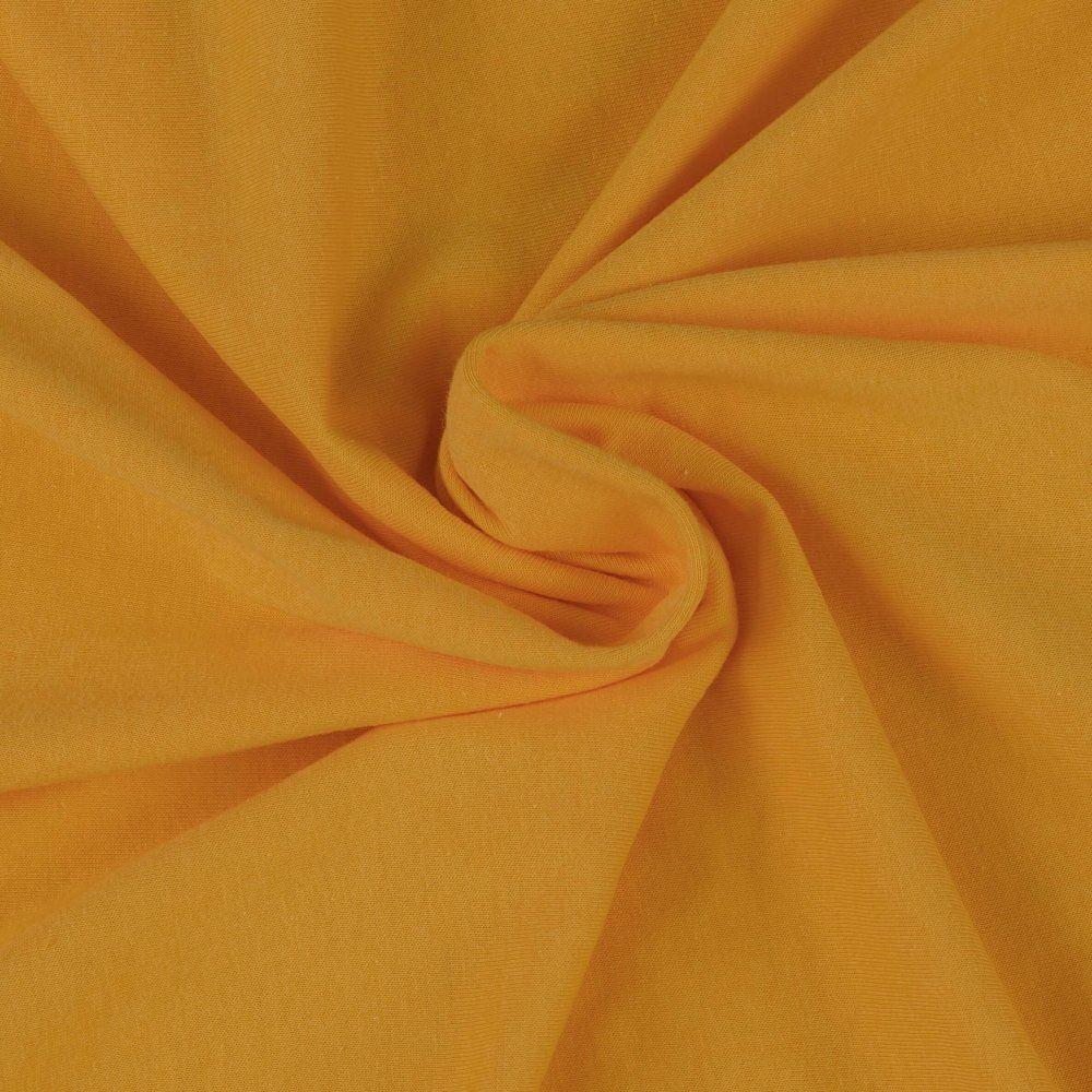Jersey prostěradlo sytě žluté
