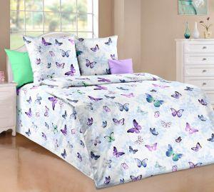 Bavlnené obliečky Motýliky fialový