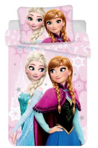 Bavlnené obliečky do postieľky Disney Frozen pink baby