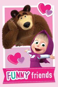 Detská fleecová deka Máša a medveď Friends