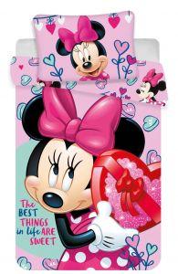 Bavlnené obliečky do postieľky Disney Minnie pink baby