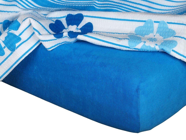 Kvalitné napínacie froté prestieradlo v kráľovskej modrej farbe, Dadka