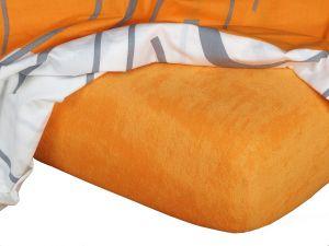 Froté prestieradlo pomaranč