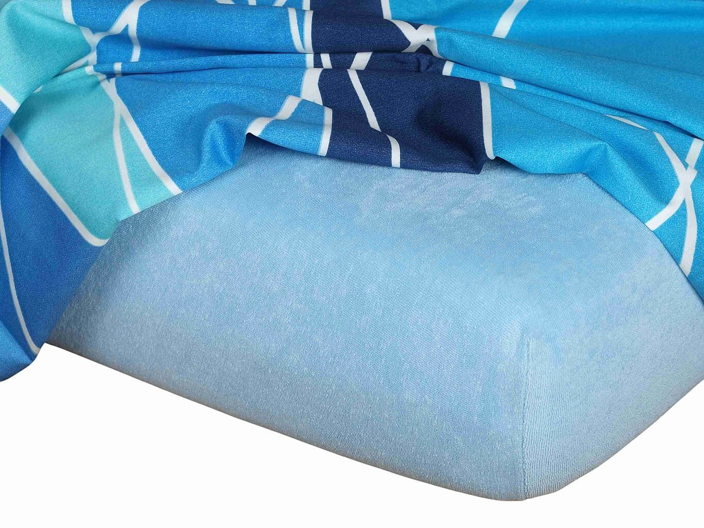 Kvalitná napínacia froté plachta českého výrobcu svetlo modrej farby, Dadka