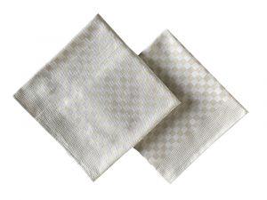 Krepový uterák béžový hladký