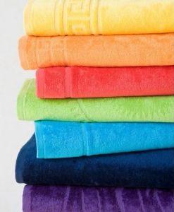 Zo 100% bavlny kvalitné veľká maxi plážová osuška Riviera, | osuška červená, rozmer 104x180 cm., osuška oranžová, rozmer 104x180 cm., osuška ružová, rozmer 104x180 cm., osuška zelená, rozmer 104x180 cm., osuška žltá, rozmer 104x180 cm.
