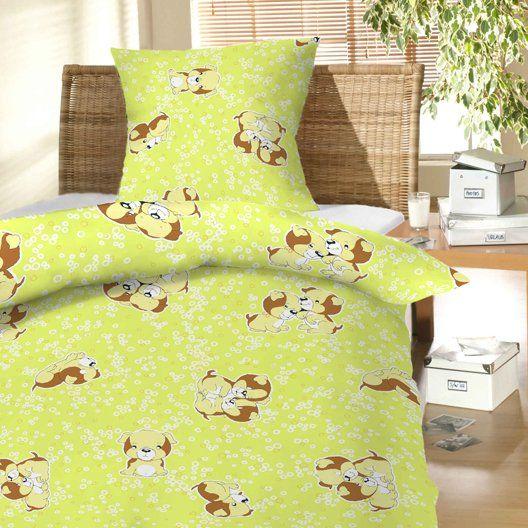 Na zelenom podklade vzor psa u detského bavlneného obliečky do postieľky Šteňa zelenej, Dadka