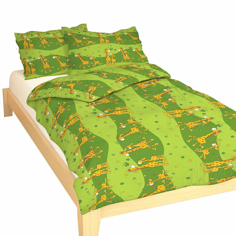 Detské kvalitné bavlnené posteľné obliečky do postieľky Žirafa zelená, Dadka