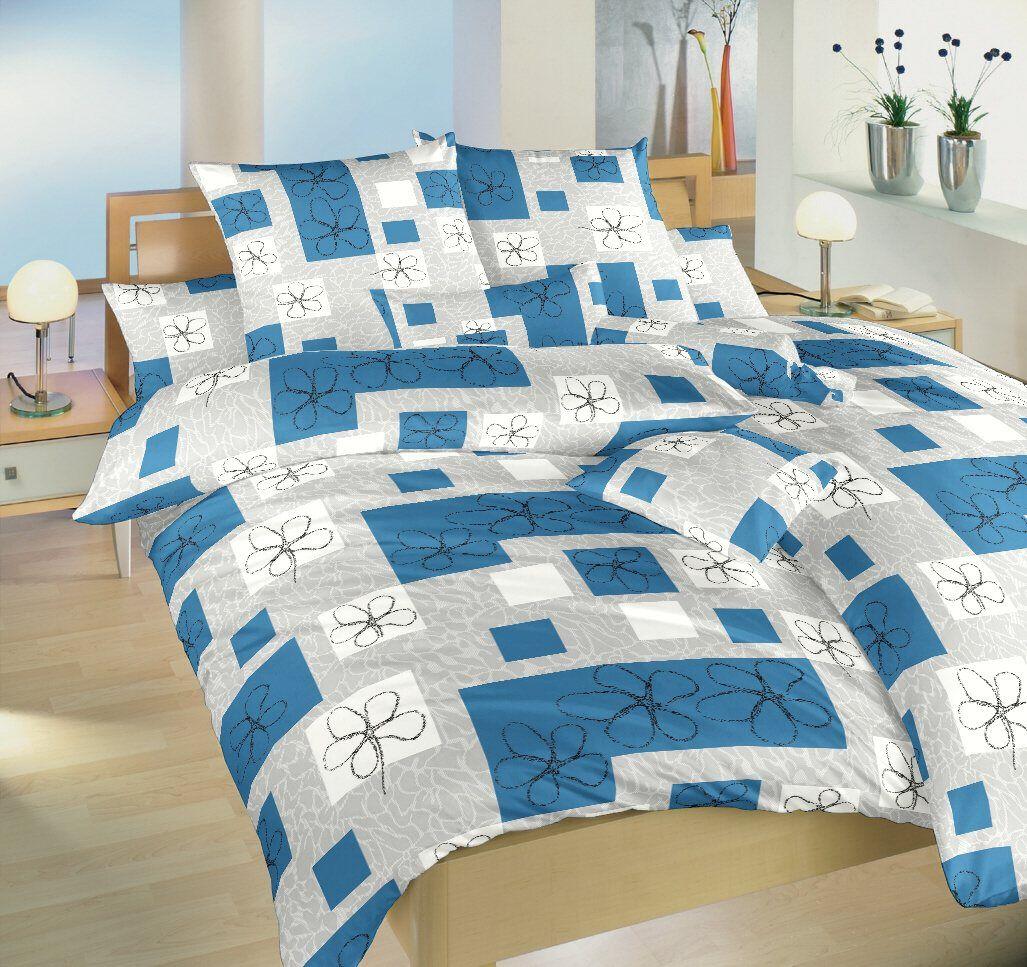 Bavlnené obliečky v kombinácii modrej a šedej farby Gobelín modrý, Dadka