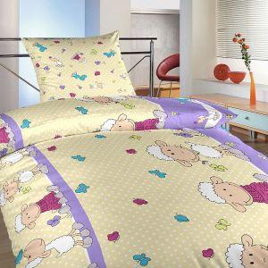 Bavlnené obliečky Ovečky veľké fialové