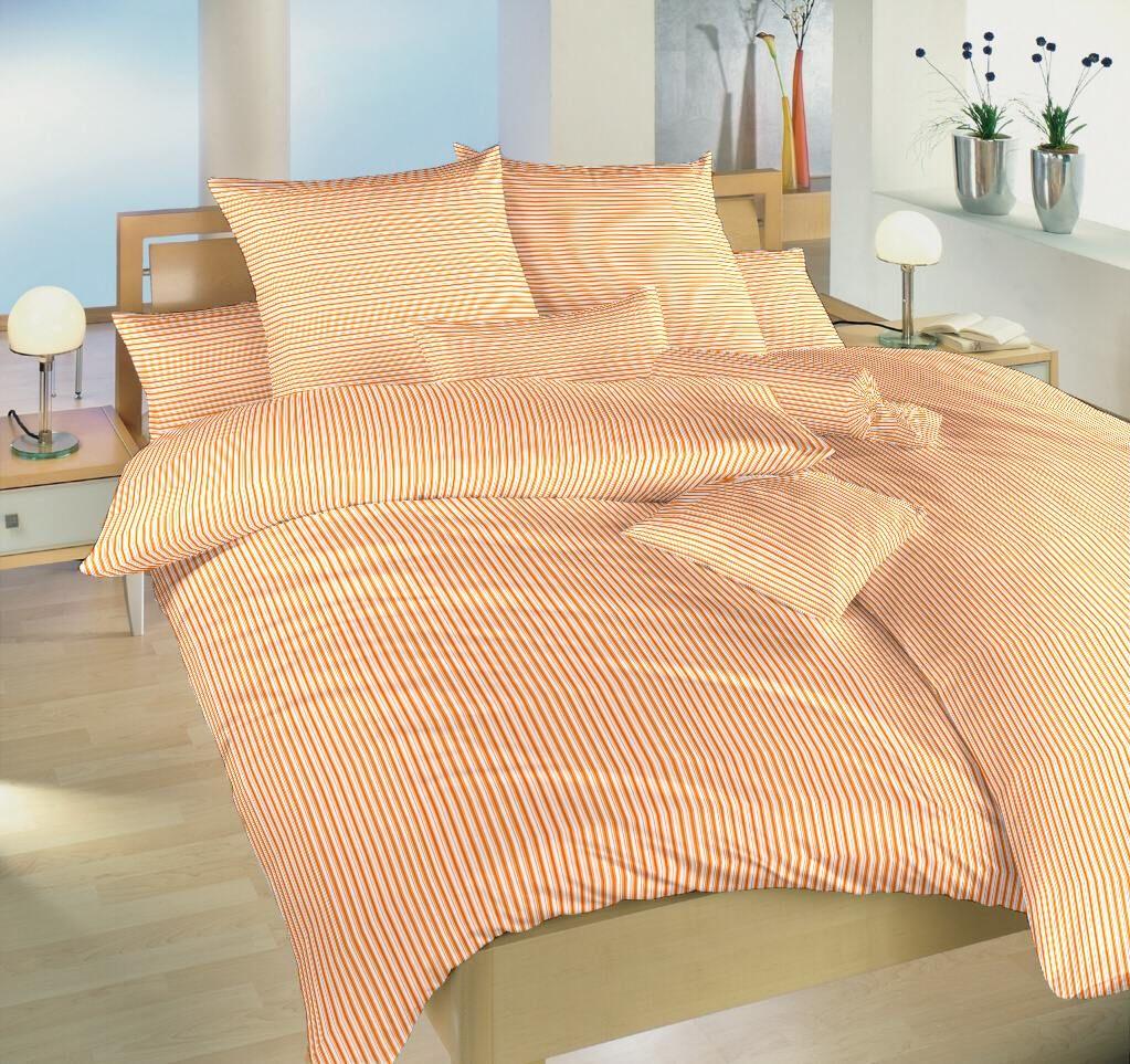 Od českého výrobcu kvalitné bavlnené posteľné obliečky Prúžky oranžovej, Dadka