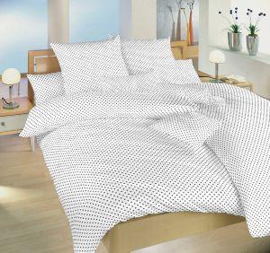 Od českého výrobcu kvalitné bavlnené posteľné obliečky Bodky biely, | 140x200, 70x90 cm, 140x220, 70x90 cm, 40x40 cm povlak, 40x50 cm povlak