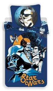 Bavlnené obliečky Star Wars blue