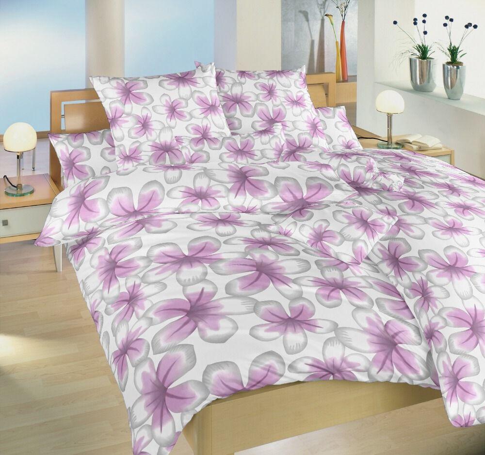 S kvetinovým motívom kvalitné flanelové posteľné obliečky Jablůnka ružová, Dadka