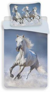 Obliečky fototlač Horses white