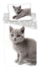 Obliečky fototlač Mačka grey 02