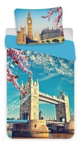 Bavlnené obliečky fototlač London blue