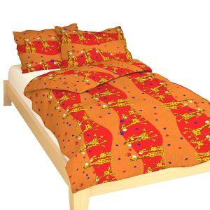 Krepové obliečky do postieľky Žirafa červená