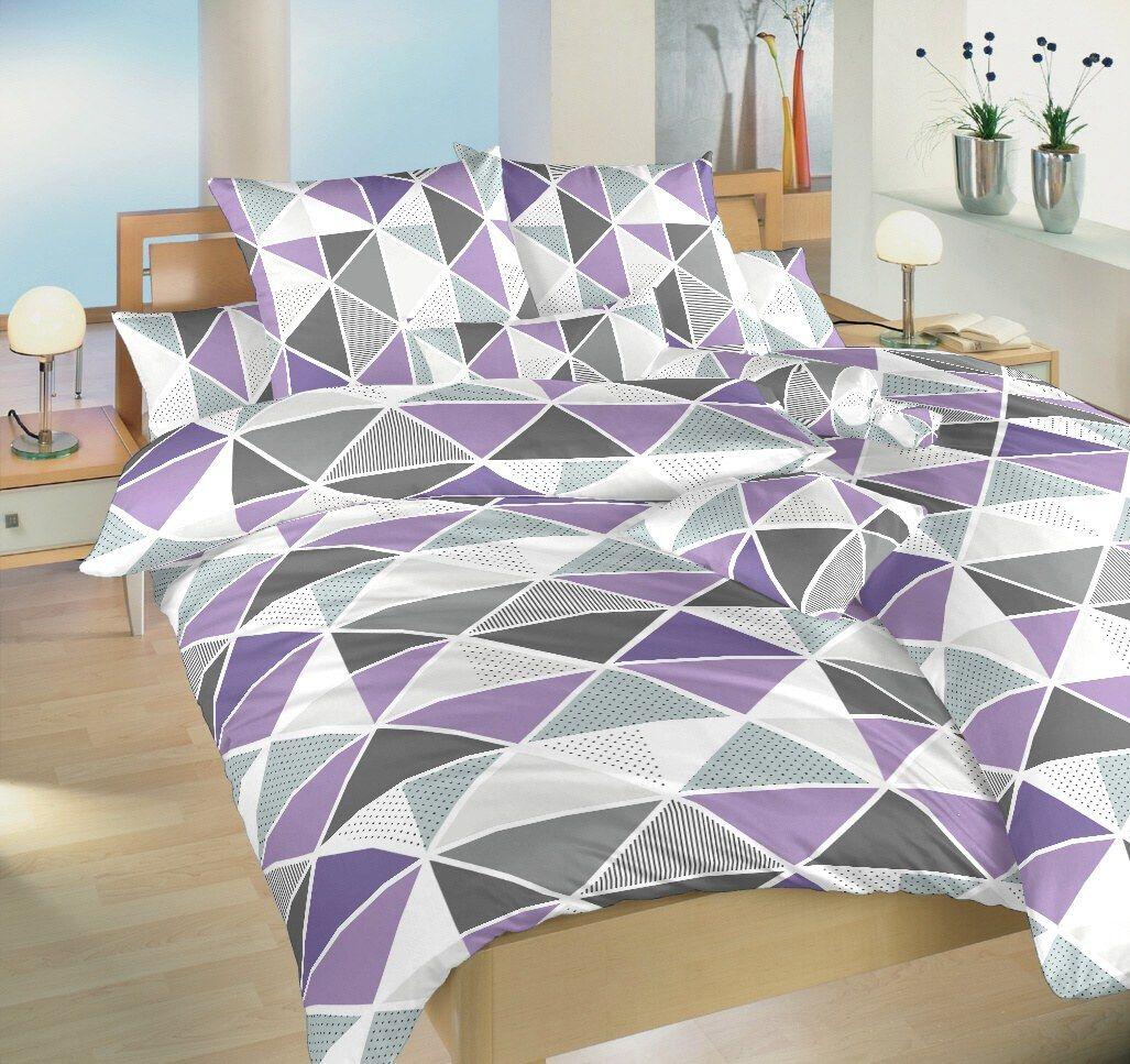 Krepové obliečky s geometrickým vzorom trojuholníkov Pyramidy fialovej, Dadka