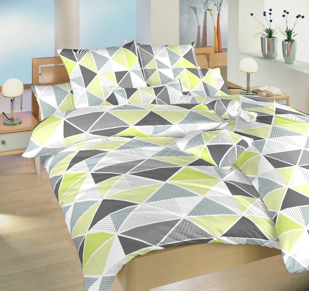 Krepové obliečky s geometrickým vzorom trojuholníkov Pyramidy kiwi, Dadka