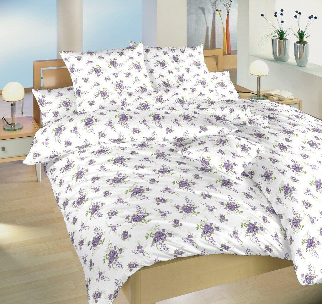 Krepové obliečky Veľké ruže fialové Dadka