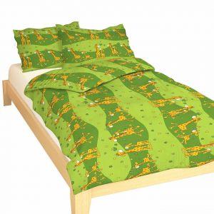 Krepové obliečky Žirafa zelená