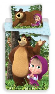 Bavlnené obliečky Máša a Medveď Forest