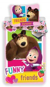 """Bavlnené obliečky Máša a Medveď """"FRIENDS"""""""
