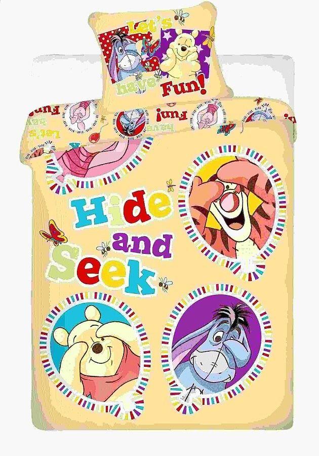 Na veľkú posteľ detské bavlnené obliečky Disney - Macko Pu balloon Jerry Fabrics