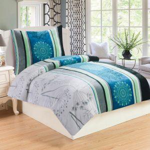 Rýchloschnúci hrejivé mikroflanelové posteľné obliečky Elen, | 140x200, 70x90 cm