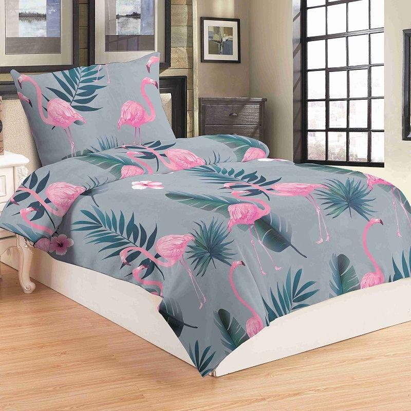 Obliečky mikroflanel Flamingo grey Jahu